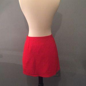 NWOT Everly Red Skirt